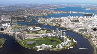 Artist's impression of the Golden Group's $3.8 billion Belmont Park Racecourse Development.