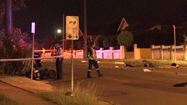 The male driver and passenger of the scooter both died at the scene.