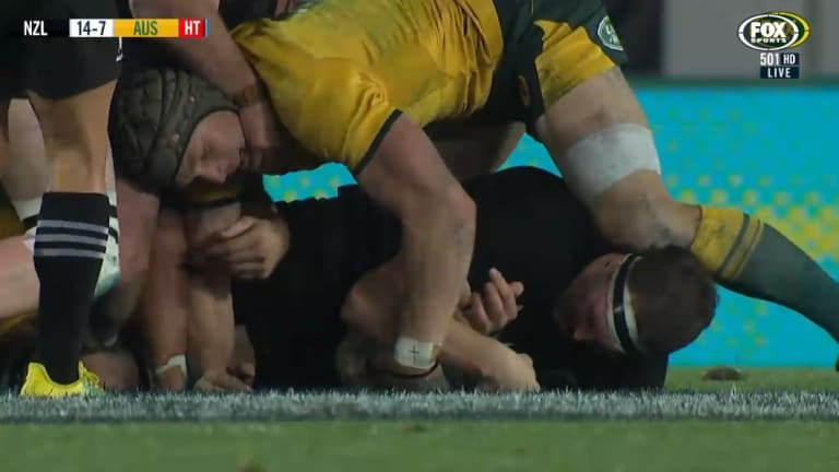 One of the incidents of a neck roll in the Test against the All Blacks.