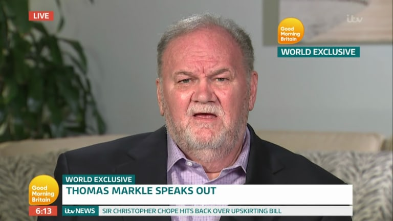 Thomas Markle appears on UK breakfast television.