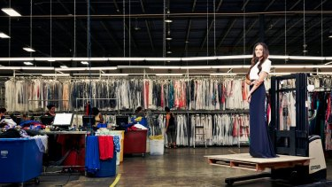 "Rent the Runway co-founder Jennifer Hyman at the US start-up's massive facility in New Jersey. ""I want to put Zara out of business,"" she says."