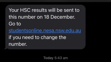 How students learnt of their HSC results on Friday.