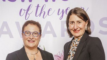 UNSW Professor Maria Kavallaris and NSW Premier Gladys Berejiklian.