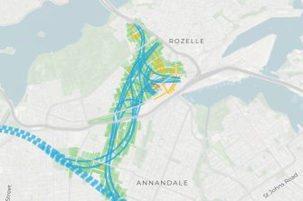 The complex underground spaghetti junction runs under hundreds of homes in Lilyfield and Rozelle.