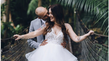 Newlyweds Ryan and Ellyce married at Perth Zoo on Sunday