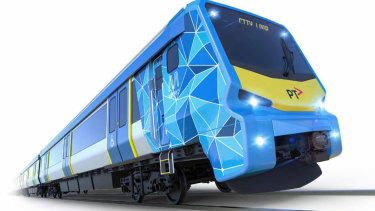 An artist's impression of the preliminary design of the new X'Trapolis 2.0 trains.