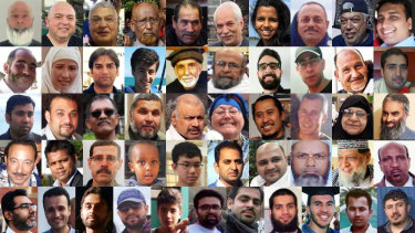 The faces of the 51 people killed in the mosque terror attack in Christchurch on March 15, 2019.