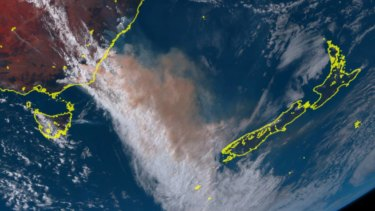 Smoke from the Australian bushfires soared into the Earth's atmosphere.