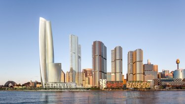 An artist's impression of Crown's casino at Barangaroo South.
