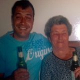 Tony Papantoniou with his mother Maria.