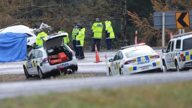 Eight people were killed in a head-on crash in New Zealand on Sunday.