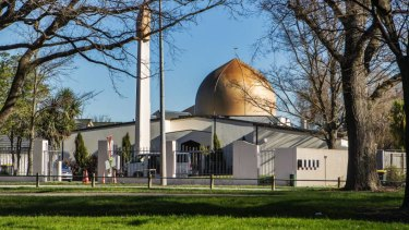 Scene of the attack: The Al Noor Mosque in the Christchurch CBD.
