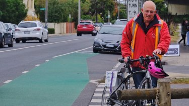 Keen cyclist Herschel Landes is in favour of the super-trail going down Inkerman Road.