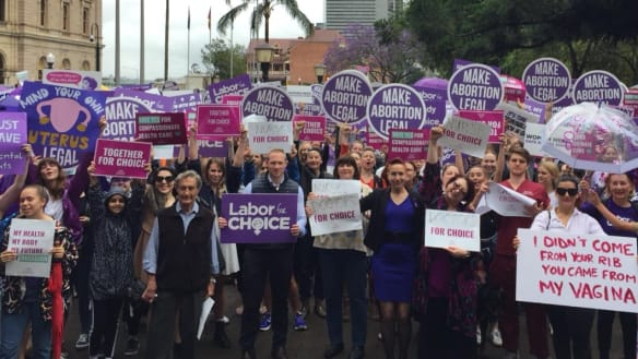 Doctors, nurses and pollies march in support of abortion reform