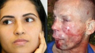 Bad choice: UFC fighter Polyana Viana and the man who attempted to rob her in Brazil.