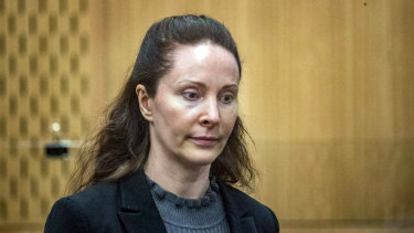 Simone Wright during her trial in the Christchurch District Court.