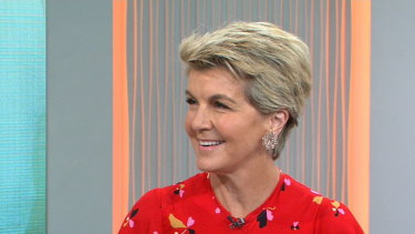 Julie Bishop said Australia should show global leadership on climate change during an appearance on the Today show on Monday, January 6.