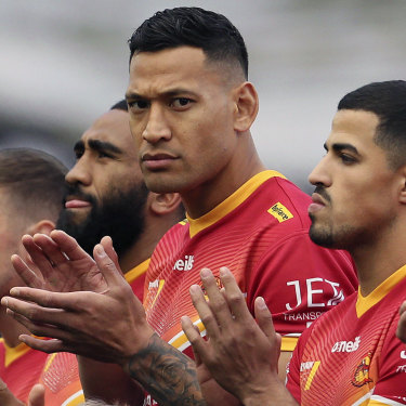 Israel Folau still has some support among clubs to return to the NRL.