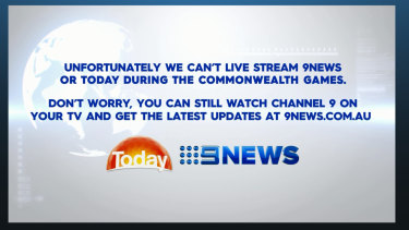 Today's live stream will be blocked for the duration of the Games.
