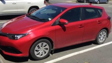 The red 2016 Toyota Corolla hatchback hired from a central Auckland rental car company.