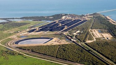 The Abbot Point terminal in north Queensland will serve Adani's giant Carmichael mine.