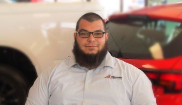 Khaled Temssah, 29, was arrested by counter-terrorism police at the Holden dealership in Roxburgh Park where he works.