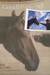 The horse rescuers. For the love of a horse #goodweekendmag.