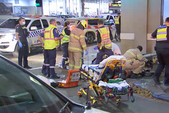 Two men suffered critical injuries and were rushed to hospital.