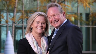 Philanthropists Andrew and Nicola Forrest.