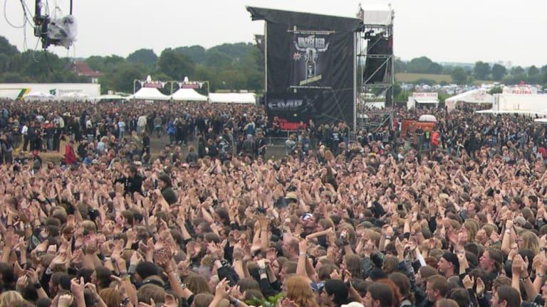 Huge crowds enjoy the Wacken Open Air heavy metal music festival.
