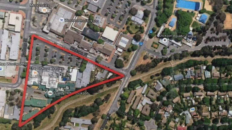 Land owned by the Tradies Club in Dickson including its main block, block 28, Section 34, that it paid only $554,625 to deconcessionalise.