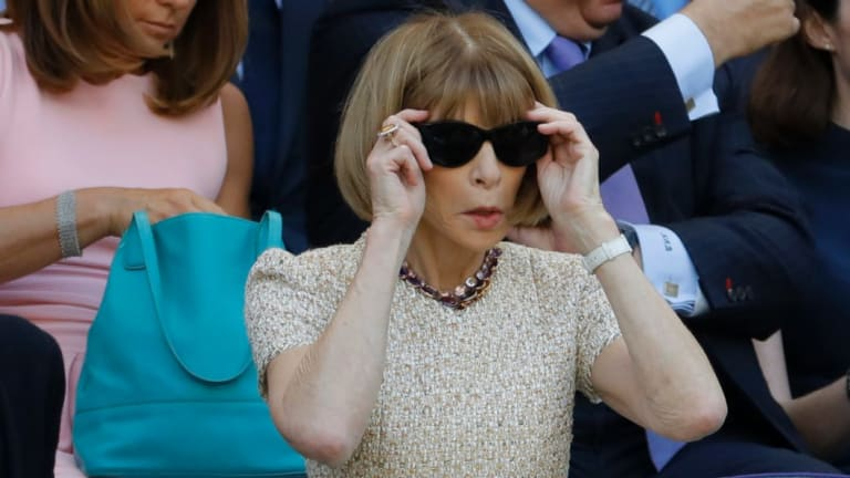 Vogue editor-in-chief Anna Wintour, pictured at Wimbledon, could be coming for the Australian Open.