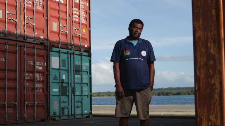 Santo Harbor Master Terry Ngwele in Vanuatu, which has seen significant new Chinese investment.