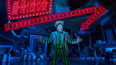 Alex Brightman as Beetlejuice in the popular Broadway production.