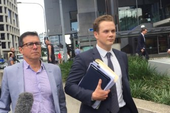 Former Ipswich mayor Andrew Antoniolli (left) has been acquitted of fraud charges