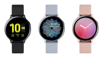 New Samsung Galaxy Watch Active2 aluminium models.