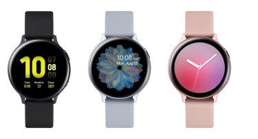 New Samsung Galaxy Watch Active2 aluminium models.