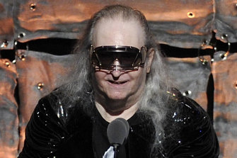Jim Steinman, pictured in 2012 at his induction to the Songwriters Hall of Fame, has died at the age of 73.