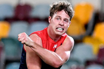 Melbourne's Mitch Hannan wants to join the Bulldogs.
