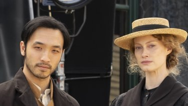 Yoson An and Alyssa Sutherland in New Gold Mountain.