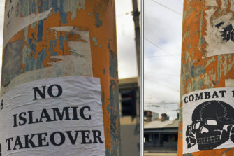 The Combat 18 posters found in North Melbourne recently