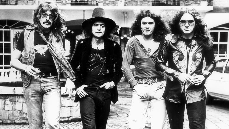 Ritchie Blackmore, second from left, when he was part of the band Deep Purple.