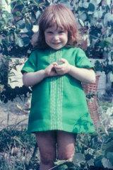 Jenny Haynes aged 4 at the family home in Bexleyheath, London.