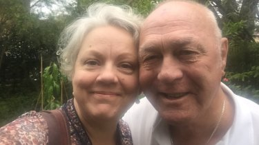 Carol Duncan and her father John, who was rescued from his shed as fire ripped through Rappville.
