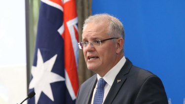 Prime Minister Scott Morrison announced the government's climate package at a function in Melbourne.