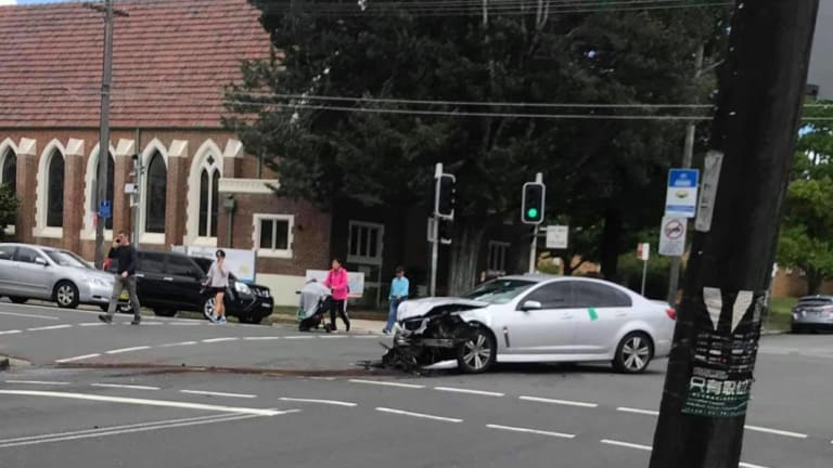 The driver of the Holden Commodore was uninjured.