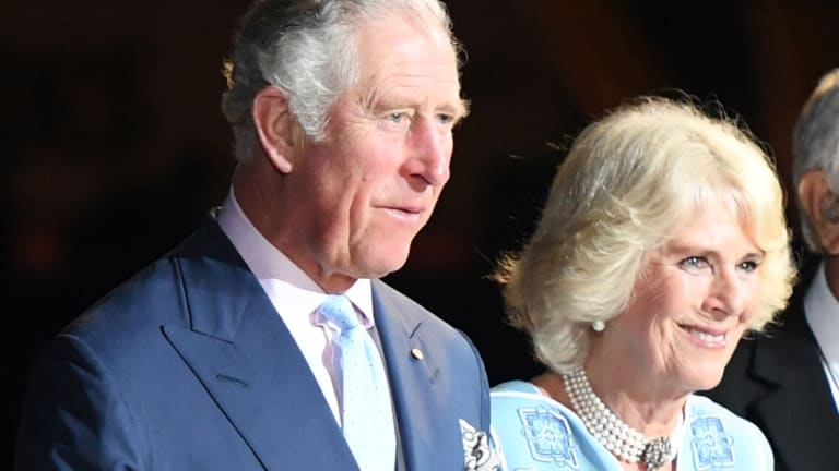 Prince Charles and Camilla, Duchess of Cornwall, during the ceremony.