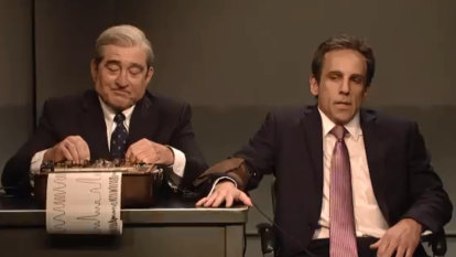 Robert De Niro, Ben Stiller reunite as Mueller-Cohen on SNL for a Meet the Parents lie-detector test