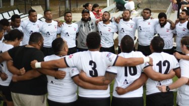 Highlight: The Fiji team singing the hymn that delighted the crowd.