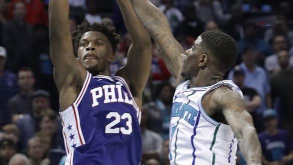 Butler buzzer-beater bags 76ers a win over Hornets
